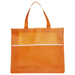 Shopping Tote Bag with Waves-Logo