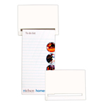 Standard Magnet - 95mm x 70mm Pad - 75mm x 140mm Rectangle To Do Lists-Logo